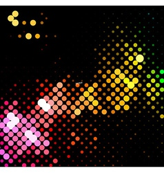 Disco light dots pattern vector