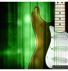 abstract green music background with electric vector image