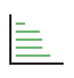 Horizontal bar graph vector