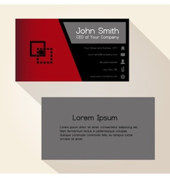 simple red and black business card design eps10 vector image