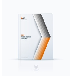 Cover design template for annual report brochure vector