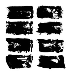 Abstract big thick black long textured brush vector