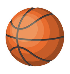 basketballbasketball single icon in cartoon style vector image vector image