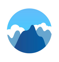 Blue mountains in clean weather vector