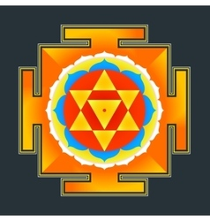 Colored baglamukhi yantra vector