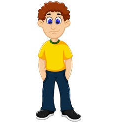Cute man cartoon standing vector