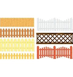 Fences set vector