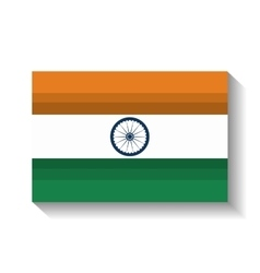 flag welcome india country design vector image vector image