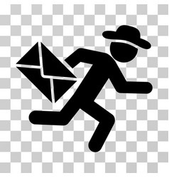 Gentleman mail courier icon vector