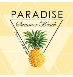 Geometric pineapple background - seamless pattern vector