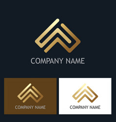 gold abstract arrow line company logo vector image vector image