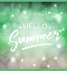 hello summer lettering design element vector image vector image