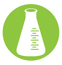 isolated white erlenmeyer vector image vector image