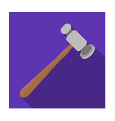 Jewelry hammer icon in flat style isolated on vector