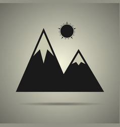 mountain icon isolated vector image vector image