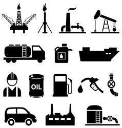 Oil icon set vector