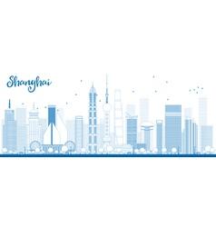 Outline shanghai skyline vector