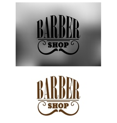 Retro barber shop emblem with mustache vector