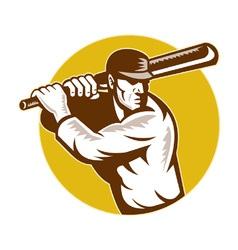 retro cricket background vector image