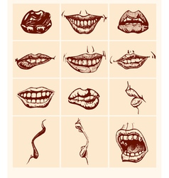 Set of sexy woman lips vector