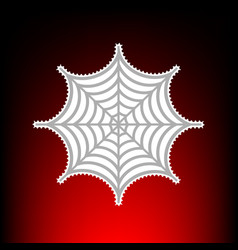 spider on web postage stamp or old vector image