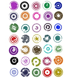 splatted circles vector image