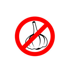 Stop garlic prohibiting road sign prohibited vector
