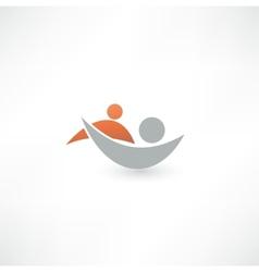 Team symbol Collaboaration vector image