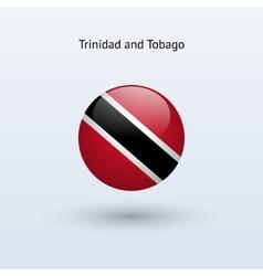 Trinidad and tobago round flag vector
