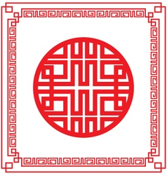 Vintage chinese frame vector