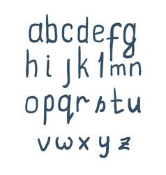 vintage font set on white background vector image