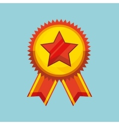 Winner medal isolated icon vector