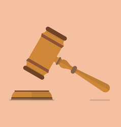 Wooden judge gavel and soundboard vector