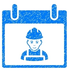 Worker calendar day grainy texture icon vector