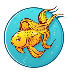 Lovely goldfish cartoon vector