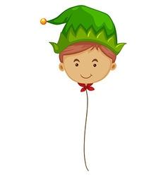 Elf balloon on string vector