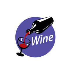 Logo wine vector