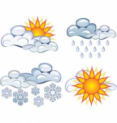Weather graphics vector