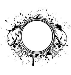Skulls frame vector