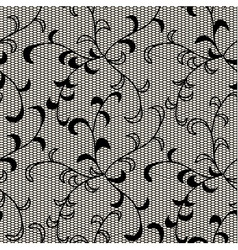 Black lace seamless pattern vector