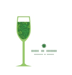 Ecology symbols wine glass silhouette pattern vector