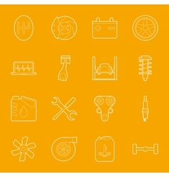 Car service thin lines icons set vector