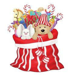 toys bag santa vector image
