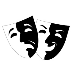 Theatre black and white emotion masks vector