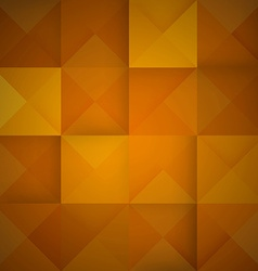 Abstract mosaic orange background vector