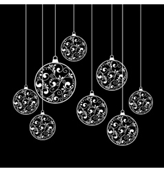 christmas paper balls vector image