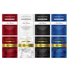 Certificate and diploma templates set vector image