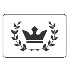 Best award label laurel wreath and crown success vector