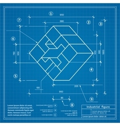 Blueprint background image vector