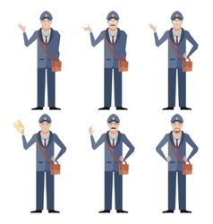 Set of postmen vector
